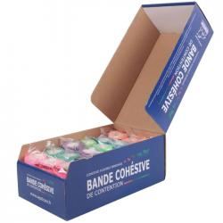 Bande cohésives de contention coloris fluo - lot de 18